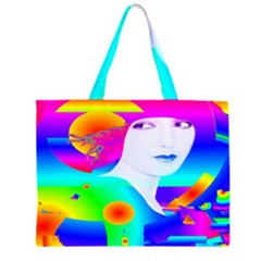 Abstract Color Dream Zipper Large Tote Bag
