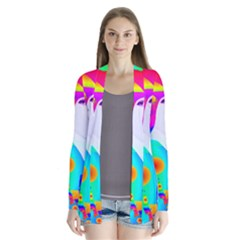 Abstract Color Dream Drape Collar Cardigan by icarusismartdesigns