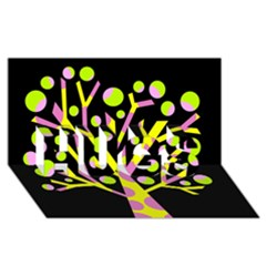 Simple Colorful Tree Hugs 3d Greeting Card (8x4)