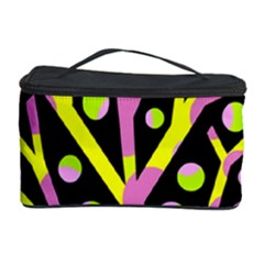 Simple Colorful Tree Cosmetic Storage Case by Valentinaart