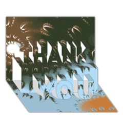 Sunraypil Thank You 3d Greeting Card (7x5)