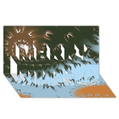 Sunraypil Merry Xmas 3d Greeting Card (8x4)