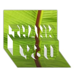 Ensete Leaf Thank You 3d Greeting Card (7x5) by picsaspassion
