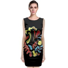 Colorful Abstract Spot Classic Sleeveless Midi Dress