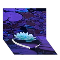 Lotus Flower Magical Colors Purple Blue Turquoise Heart Bottom 3d Greeting Card (7x5) by yoursparklingshop