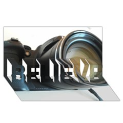 My Camera Believe 3d Greeting Card (8x4)