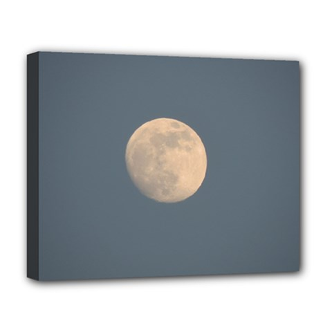 The Moon And Blue Sky Deluxe Canvas 20  X 16