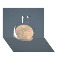 The Moon And Blue Sky Apple 3d Greeting Card (7x5) by picsaspassion
