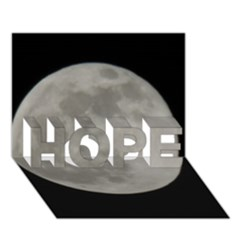 Close To The Full Moon Hope 3d Greeting Card (7x5) by picsaspassion