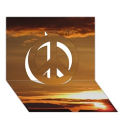 Summer Sunset Peace Sign 3d Greeting Card (7x5)