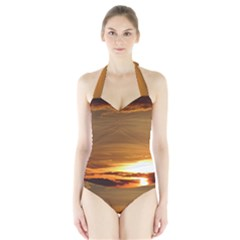 Summer Sunset Halter Swimsuit by picsaspassion