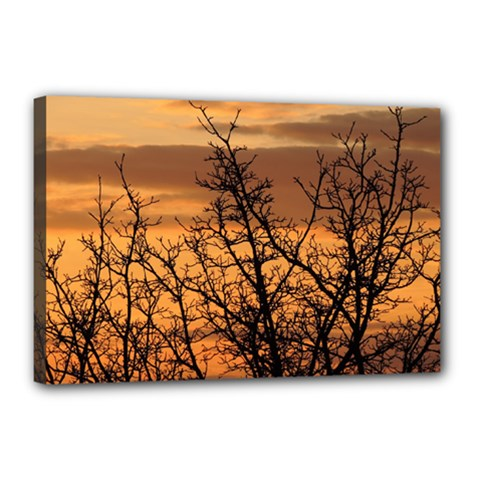 Colorful Sunset Canvas 18  X 12  by picsaspassion