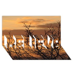 Colorful Sunset Believe 3d Greeting Card (8x4) by picsaspassion