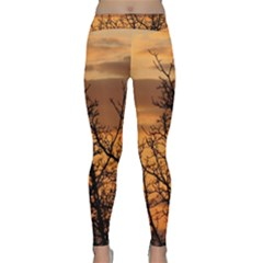 Colorful Sunset Yoga Leggings  by picsaspassion