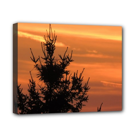 Christmas Tree And Sunset Canvas 10  X 8  by picsaspassion