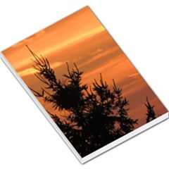 Christmas Tree And Sunset Large Memo Pads by picsaspassion