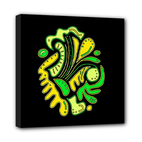 Yellow And Green Spot Mini Canvas 8  X 8  by Valentinaart