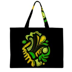 Yellow And Green Spot Mini Tote Bag by Valentinaart