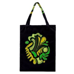 Yellow And Green Spot Classic Tote Bag by Valentinaart