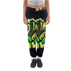 Yellow And Green Spot Women s Jogger Sweatpants by Valentinaart