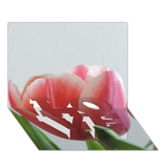 Red Tulips Love Bottom 3d Greeting Card (7x5) by picsaspassion