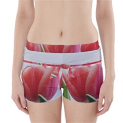 Red Tulips Boyleg Bikini Wrap Bottoms by picsaspassion