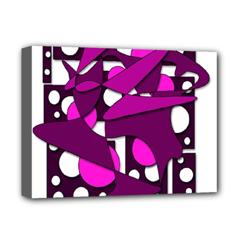 Something Purple Deluxe Canvas 16  X 12   by Valentinaart