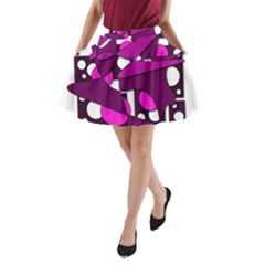 Something Purple A-line Pocket Skirt by Valentinaart