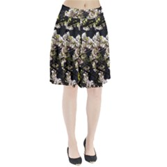 Blooming Japanese Cherry Flowers Pleated Skirt