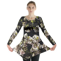 Japanese Cherry Flower Long Sleeve Tunic  by picsaspassion