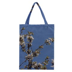 White Cherry Flowers And Blue Sky Classic Tote Bag by picsaspassion