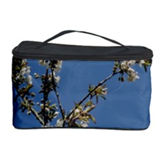 White Cherry Flowers And Blue Sky Cosmetic Storage Case by picsaspassion