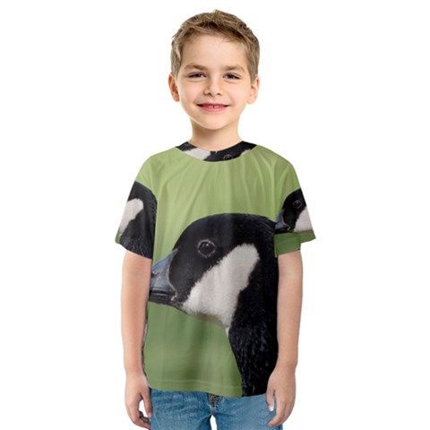 Goose Bird In Nature Kids  Sport Mesh Tee by picsaspassion