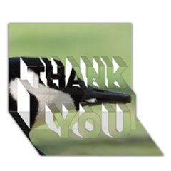 Goose, Black And White Thank You 3d Greeting Card (7x5) by picsaspassion