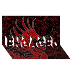 Red Dragon Engaged 3d Greeting Card (8x4) by Valentinaart