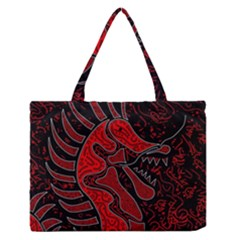 Red Dragon Medium Zipper Tote Bag by Valentinaart