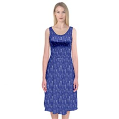 Diamonds And Icecreams On Navy Midi Sleeveless Dress by Contest2504870