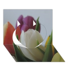 Colored By Tulips Heart 3d Greeting Card (7x5) by picsaspassion