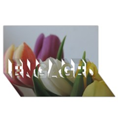 Colored By Tulips Engaged 3d Greeting Card (8x4) by picsaspassion