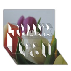 Colored By Tulips Thank You 3d Greeting Card (7x5) by picsaspassion