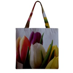Colored By Tulips Grocery Tote Bag by picsaspassion
