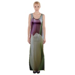Colored By Tulips Maxi Thigh Split Dress by picsaspassion