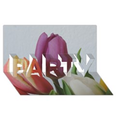 Tulip Spring Flowers Party 3d Greeting Card (8x4) by picsaspassion