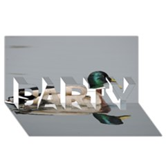Wild Duck Swimming In Lake Party 3d Greeting Card (8x4) by picsaspassion
