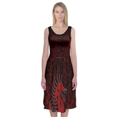 Red Dragon Midi Sleeveless Dress by Contest2491068