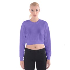 Lilac   Purple Color Design Women s Cropped Sweatshirt by picsaspassion
