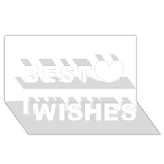 White Color Design Best Wish 3d Greeting Card (8x4)