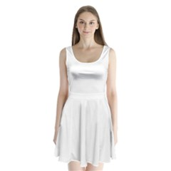 White Color Design Split Back Mini Dress  by picsaspassion