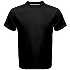 Black Color Design Men s Cotton Tee