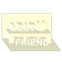 Yellow Color Design Best Friends 3d Greeting Card (8x4)